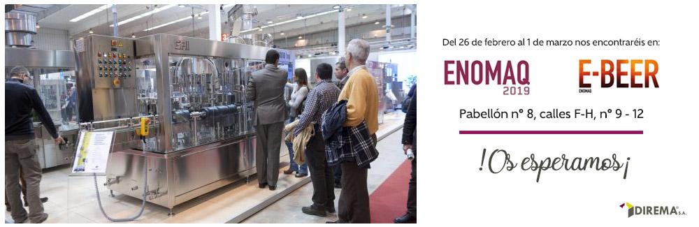 Del 26 de febrero al 1 de marzo estaremos en ENOMAQ y EBEER 2019